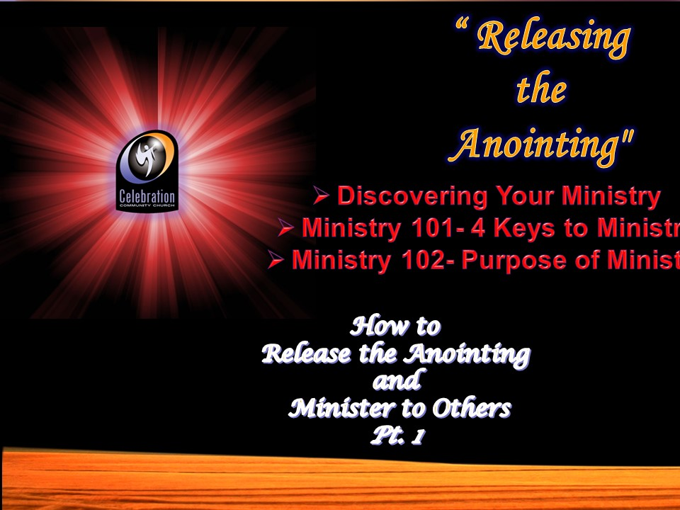Releasing the Anointing
