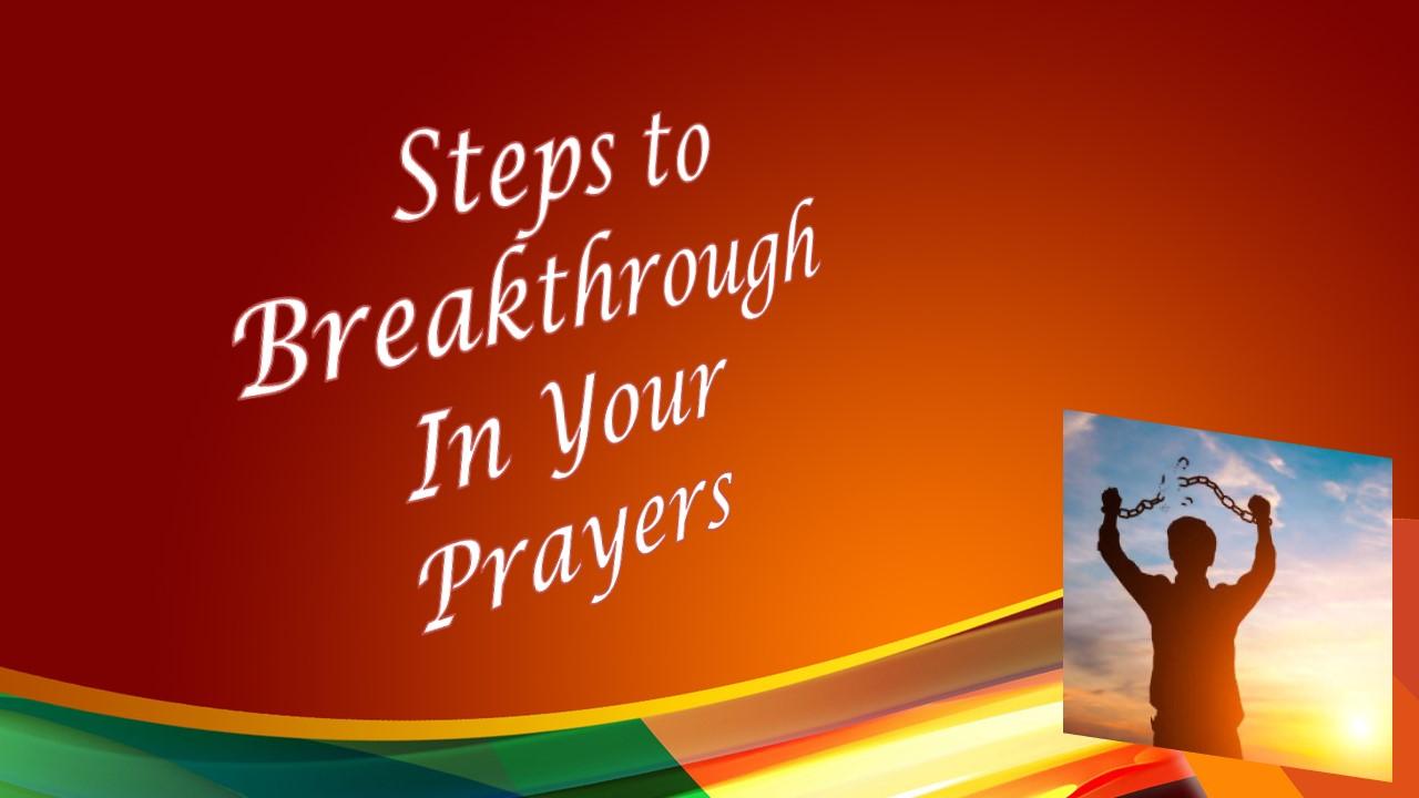 Breakthrough Prayer - Celebration Community Church